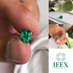 IEEX Emeralds - Close up of the 2.00 carat Cushion cut Colombian emerald from the 'Chivor' mine. A truly stunning vivid green stone, cut, colour and clarity exceptional with lots of fire.  Available - EMAIL - info@ieex.com.co Colombian Emeralds, Green Stone, Cushion Cut, Clarity, Artisan, Fire, Turquoise, Colour, Color