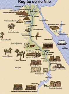 Mapa gráfico, principales puntos arqueológicos