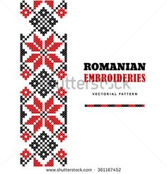 Romanian embroideries - flowers vector pattern