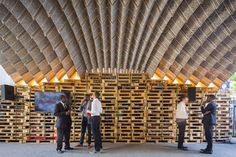 ETH Zurich Pavilion by Block Research Group at Ideas City Festival, New York City Sustainable Architecture, Sustainable Design, Landscape Architecture, Architecture Design, New City, New York City, Visual Merchandising, Temporary Structures, Fabric Structure
