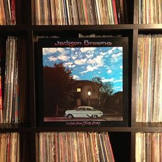 desert island grooves. Thanks Bobby ;-) #nowspinning #jacksombrowne #lateforthesky #vinyl #recordcollection #love 1974