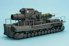 WWII German Self-Propelled Artillery 60cm Karl-Gerät Free Paper Model Download