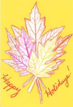 How to Make a Leaf Rubbing Card