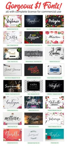 Gorgeous $1 Fonts! /
