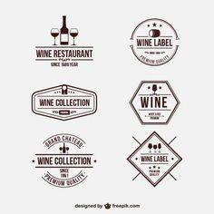 Retro wine badges