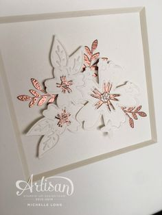 handmade card: Love and Affection ... white with copper embossed detials ... from stampin365.com ...Stampin' Up!
