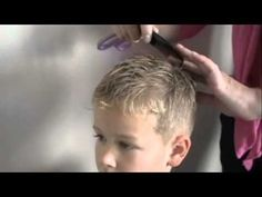 How to cut boys Hair with clippers and scissors - YouTube
