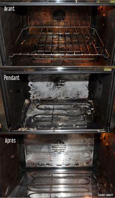 nettoyer son four naturellement pour commencer on saupoudre du bicarbonate de soude sur les plus grosses taches. On vaporise du vinaigre de vin blanc dessus, on laisse agir 2 heures et on retire le plus gros à l'aide d'une éponge humide. Ensuite pour les tâches les plus résistantes on fabrique une pâte de bicarbonate. On prend du bicarbonate, on y ajoute un peu d'eau pour former une pâte qu'on étale sur les taches les plus récalcitrantes. On laisse agir une nuit et le lendemain matin on…
