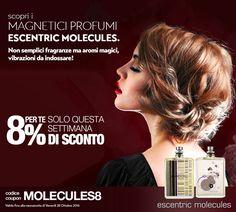 EXTRA SCONTO ESCENTRIC MOLECULES!!!!  8% DI SCONTO SU TUTTI I PROFUMI ESCENTRIC MOLECULES....*  Codice Coupon: MOLECULES8  *Promozione valida fino alla mezzanotte di venerdì 28 ottobre 2016  #EscentricMolecules #Escentric #Molecule #Kinski #TheBeautifulMind #promo #offerte #Beautyprivè #Beautyprivesconti #Beautypriveofferte #Beautyprivetopseller #shopping #shoponline