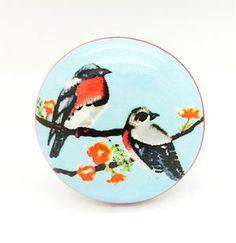 Birds Ceramic Cupboard Drawer Handle Door Pull Knob - door knobs & handles
