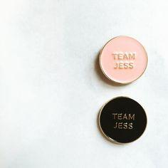 Team Jess Enamel Pin Gilmore Girls by ShopGoldenGems on Etsy
