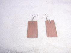 Rectangular Sandstone Pendant Earrings
