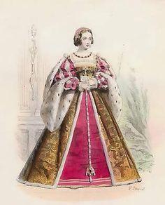 Eléonore D´Autriche, 2ème Femme De Francois Ier, d´après Gaignières, 1530