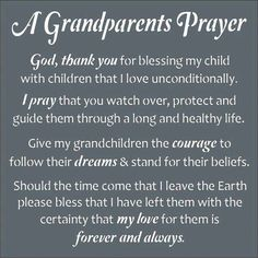A Grandparent's Prayer ...