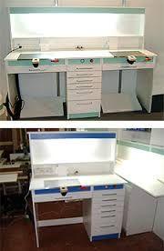 Resultado de imagen para muebles clínica dental Protésico Dental, Dental Cabinet, Dental Technician, Dental Laboratory, Clinic Design, Studio Setup, Layout, Desk, Workbenches