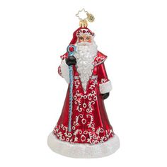 Christopher Radko Glass Ruby Red Robes Magical Santa Christmas Ornament #1016545 at Sears.com