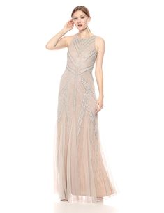 c839600e83be4 Adrianna Papell Women s Beaded Halter Mermaid Long Dress 5.0 out of 5 stars  1 customer review Price   272.98 -  329.00