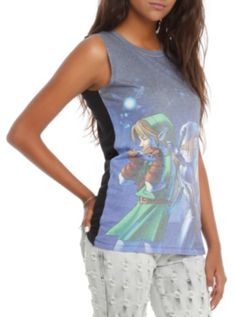 Nintendo The Legend Of Zelda: Ocarina Of Time 3D Harmonious Song Girls Tank Top