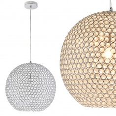 pro]® Lampa suspendata design decorativ – lampa plafon - Crom-cristal x - Lumini de plafon - Iluminat interior - Iluminat Kugel, Sweet Home, Ceiling Lights, Retro, Lighting, Pendant, Home Decor, Google, Modern Roof Design