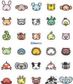 How to draw cute animals with the same beginning shape kawaii drawings, cute animal drawings Easy Animal Drawings, Easy Drawings, Doodle Drawings, Doodle Art, Kawaii Drawings, Warhammer Age Of Sigmar, Cute Doodles, Animal Faces, Animal Heads