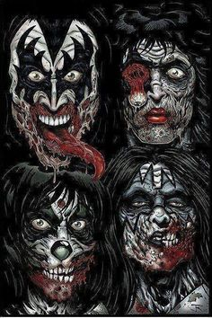 Kiss zombies - awesome