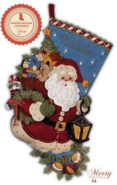 Bucilla Felt Applique Christmas Stocking Kit: Christmas Joy