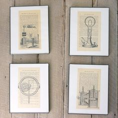 Curious about printing on book pages? Here's a tutorial to get that vintage look yourself for fast, easy wall art!