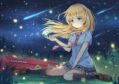 Anime Your Lie in April  Kaori Miyazono Papel de Parede