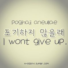 I won't give up,I will never keep looking,there will be one day when I will find my path,for sure,and I believe in me.
