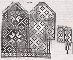 Deathflake Chart pattern by Art Fiend Knitting Charts, Knitting Stitches, Knitting Patterns Free, Knitting Yarn, Free Knitting, Baby Knitting, Crochet Mittens Free Pattern, Knit Mittens, Mitten Gloves