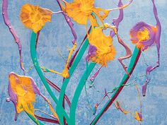 Close-up of Chihuly's newest print for 2016: Sterling Ikebana. chihulyworkshop.com