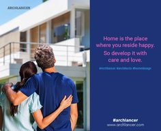 Home is the place where you reside happy. So develop it with care and love. #Archlancer #architects #homedesign
