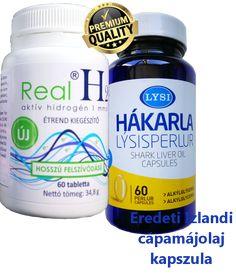 Real H2 molekuláris hidrogén + Izlandi cápamáj olaj kapszula