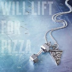 Life is about balance.... a dumbbell in one hand and a pizza in the other.