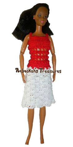 Crochet Barbie Top & Skirt Free Patterns