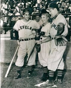 Harpo with Bob Feller and Lou Boudreau of the Cleveland Indians 1947