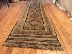 Baluchi  sumack runner flat weave Kilim size by CooperSeal on Etsy