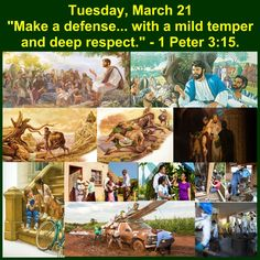 Make a defense.... with a mild temper and deep respect. - 1 Peter 3:15.