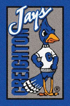 Creighton Bluejays Team Logo Area Rug- Creighton Bluejays Team Logo Area Rug Show your team spirit with these gridiron area rugs emblazoned with your Creighton University, Best Carpet, Game Logo, College Basketball, Team S, How To Clean Carpet, Nebraska, Area Rugs, Spirit