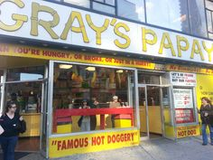 √- Gray's Papaya - He could be the zipperman!  On Amsterdam avenue!