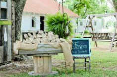 Bags of Pecans as Wedding Favors at The Fritz Farm Wedding Venue in Cordele, GA #rustic #chic #thefritzfarm #rusticwedding #barnwedding #wedding