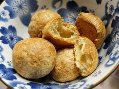 Cumin and cayenne pepper cheese puffs
