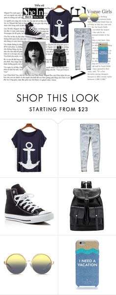 """Bez naslova #32"" by ermina-camdzic ❤ liked on Polyvore featuring Abercrombie & Fitch, Converse, Matthew Williamson and Kate Spade"