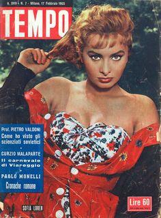 Tempo (Italy), February 1955 (Sophia Loren)