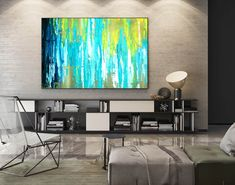 Abstract Canvas Art - Large Painting on Canvas, Contemporary Wall Art, Original Oversize Painting Blue Abstract Painting, Abstract Canvas Art, Painting Art, Large Painting, Acrylic Art, Oversized Canvas Art, Large Canvas Art, Oil Canvas, Canvas Paintings