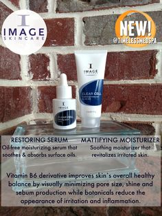 38a0651cf0c All new products to the Clear Cell line from Image Skincare: Restoring  Serum and Mattifying