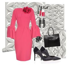 """""""Bell Sleeves"""" by marionmeyer ❤ liked on Polyvore featuring WALL, Roksanda, Avon, NARS Cosmetics, MAC Cosmetics, WtR London, Rebecca Minkoff, Essie, Simone Rocha and bellsleeves"""