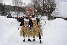 Masopust (Shrovetide/Fat Tuesday) celebrations in the Hlinecko region of eastern Bohemia in the Czech Republic