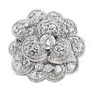 Carnation Brooch - The carnation brooch is a beautiful accent to a blazer jacket or even winter coat. Sterling silver and cubic zirconia. Price: $40.00 #GammaPhiBeta #HJGreek