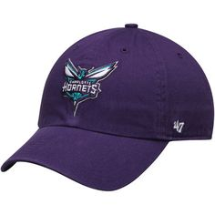 Charlotte Hornets '47 Clean Up Adjustable Hat - Purple